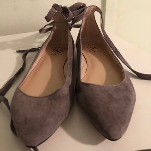 Gray Suede Flats - brand new